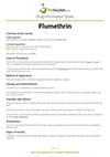 Flumethrin drug information sheet