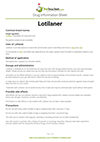 Lotilaner drug information sheet