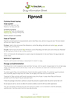 Fipronil drug information sheet