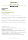 Fluralaner drug information sheet