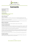 Ivermectin drug information sheet